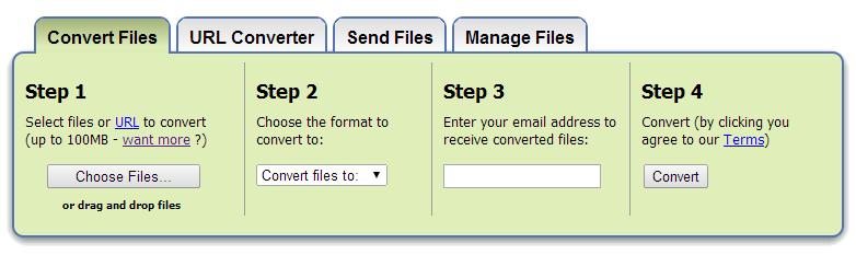 convert files zamzar