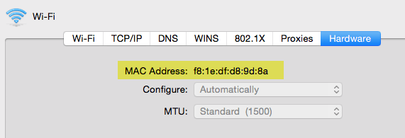 mac address mac