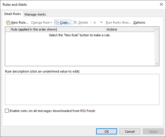 Automatically Move Emails into Folders in Outlook using Rules
