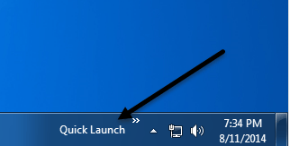 win 7 quick launch