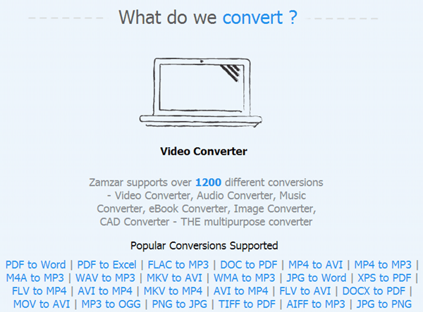 Convert Between Many Different Files Types Online