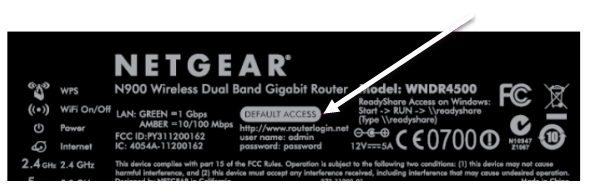 router login info