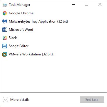 Guide to Windows 10 Task Manager – Part I