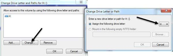 how to change the letter on the disk drive