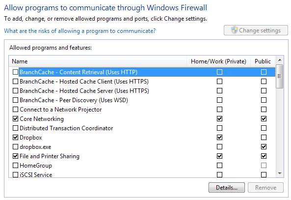 allow programs firewall