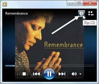 Rip an Audio CD to MP3 using Windows Media Player