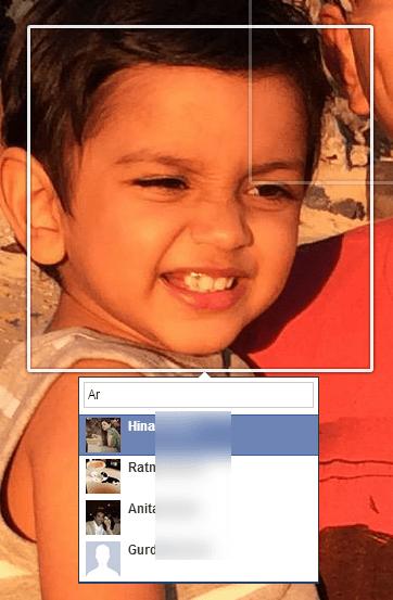 tag a face