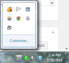 taskbar icons