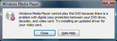 cannot play dvd