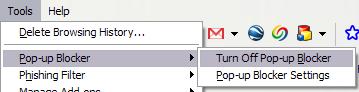 popup blocker how to allow