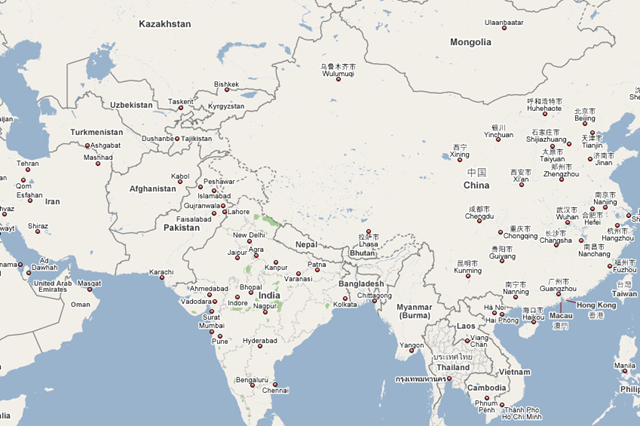 54 new countries added to Google Maps