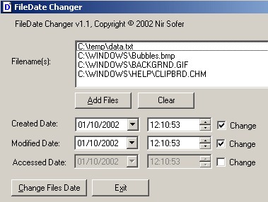 change file date