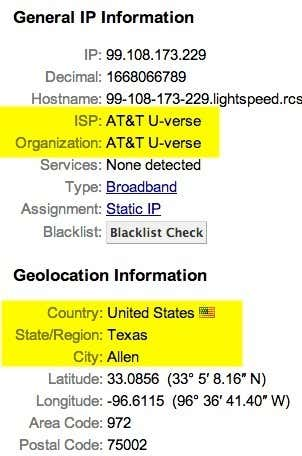 ip address location