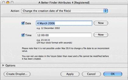 mac cambio de fecha del archivo
