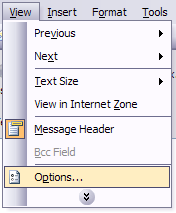 outlook message headers