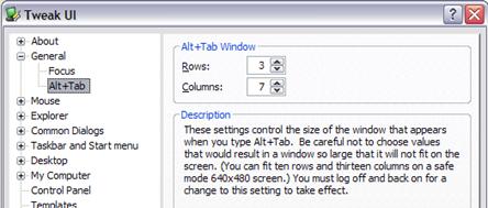 Ajustar las Configuraciones de Windows XP con el TweakUI
