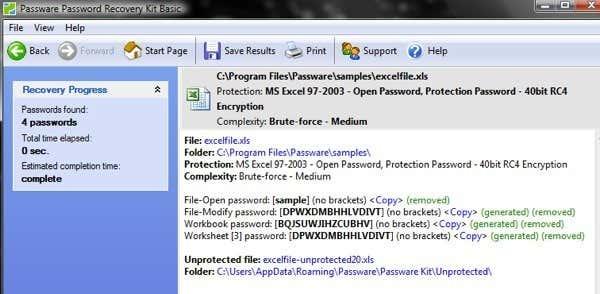 crack passwords excel