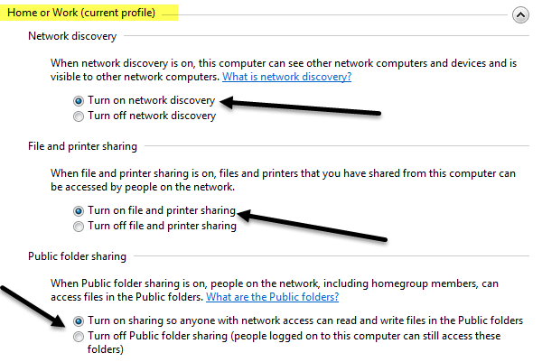 windows 10 network discovery is turned off. network computers and devices are not visible
