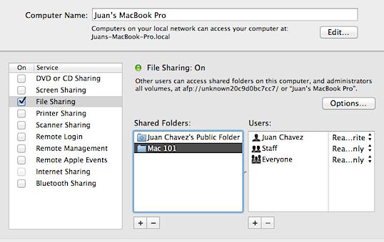 file sharing mac