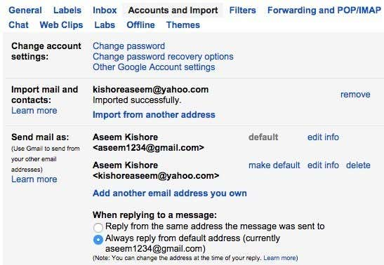 Check My Email, My Account