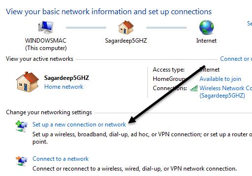 setup new connection
