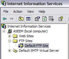 crear server ftp windows