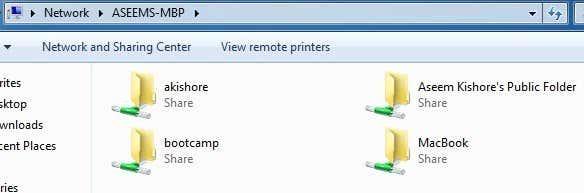 how to create a shared folder on mac