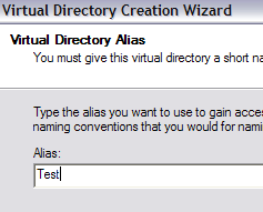 virtual directory alias