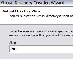 virtual directory alias