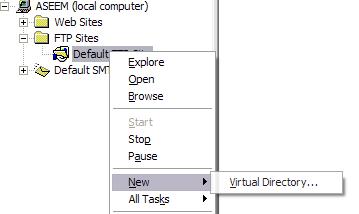 Crear servidor FTP en Xp usando
