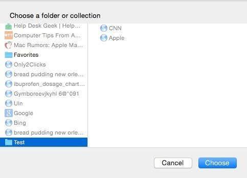 choose tabs folder
