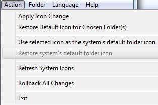 folder marker menu