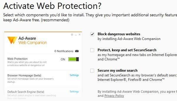 ad aware web protection