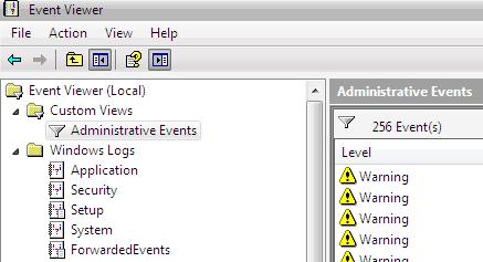 registro de sucesos de aplicación