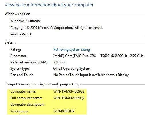 computer name