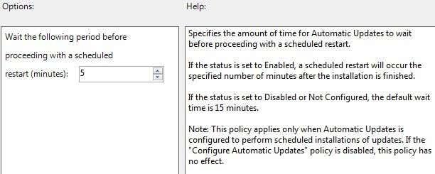delay restart