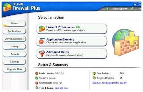 Firewall Pctools-firewall-plus-full-screenshot