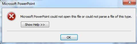 powerpoint error