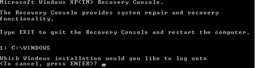recovery consol