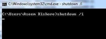 shutdown i parameter