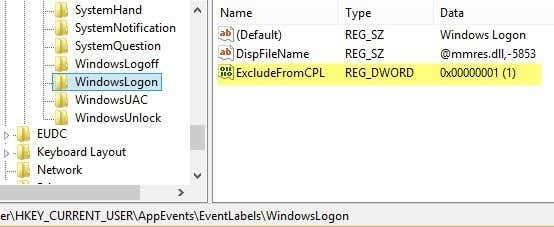 windowslogin registry key