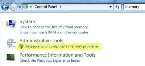 admin tools memory
