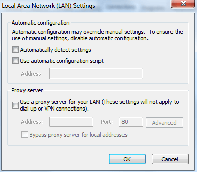 auto detect settings