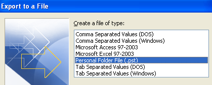 personal folder file