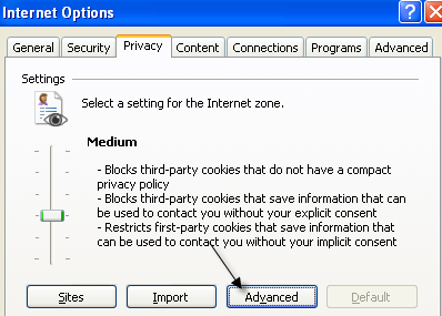 privacy internet options