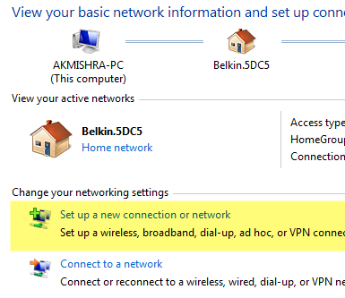 setup new connection