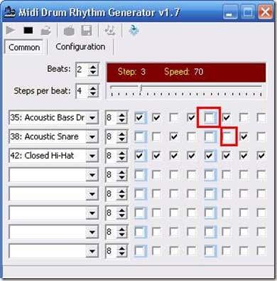 Drum beats using MidiDrum