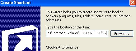 How to Open Internet Explorer in Full Screen or Kiosk Mode
