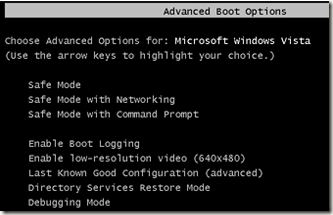 advanced boot options windows