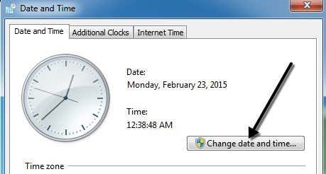Date and Time - Change - Windows 7 Help Forums